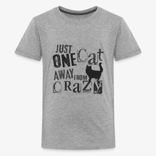 One Cat Away IV - Teinien premium t-paita