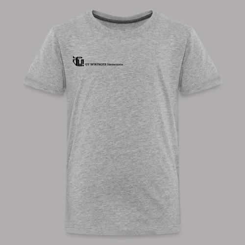 Zirkelbanner,schwarz(vorne)Zirkel,schwarz (hinten) - Teenager Premium T-Shirt