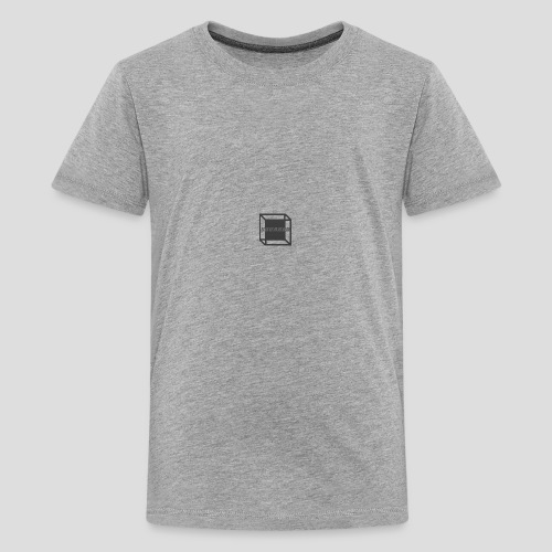 Squared Apparel Black / Gray Logo - Teenage Premium T-Shirt