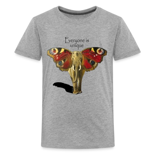 Everyone is unique – Schmettefant - Teenager Premium T-Shirt