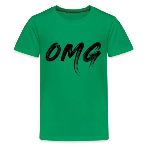 OMG, musta - Teinien premium t-paita