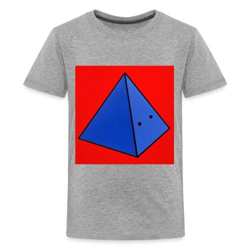 Fond rouge piramide - T-shirt Premium Ado