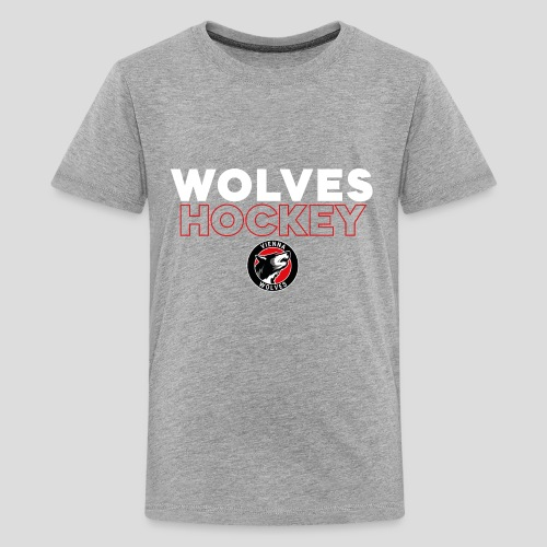 Wolves Hockey - Teenager Premium T-Shirt