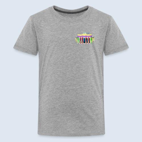 Brandenburger Tor Berlin PopArt ickeshop BachBilde - Teenager Premium T-Shirt