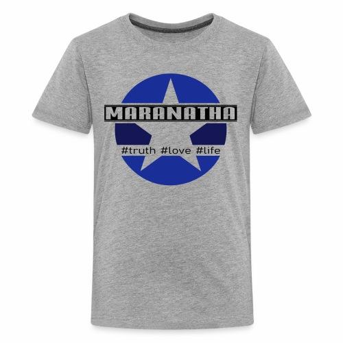 maranatha blau-braun - Teenager Premium T-Shirt