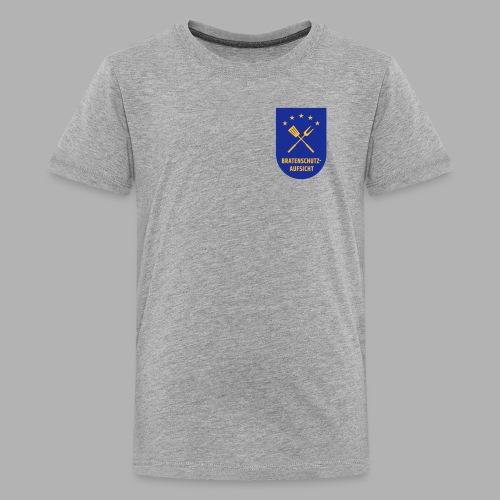 EU Bratenschutz-Aufsicht Dienstabzeichen blau - Teenager Premium T-Shirt