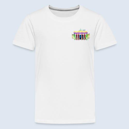 "Berlin ""Brandenburger Tor"" PopArt Design - Teenager Premium T-Shirt"