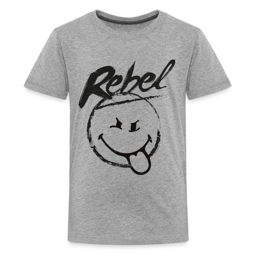 SmileyWorld Rebel Rebellischer Smiley - Teenager Premium T-Shirt