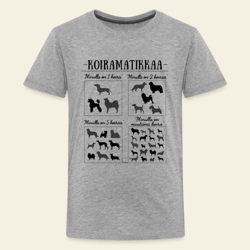 Koiramatikkaa III - Teinien premium t-paita