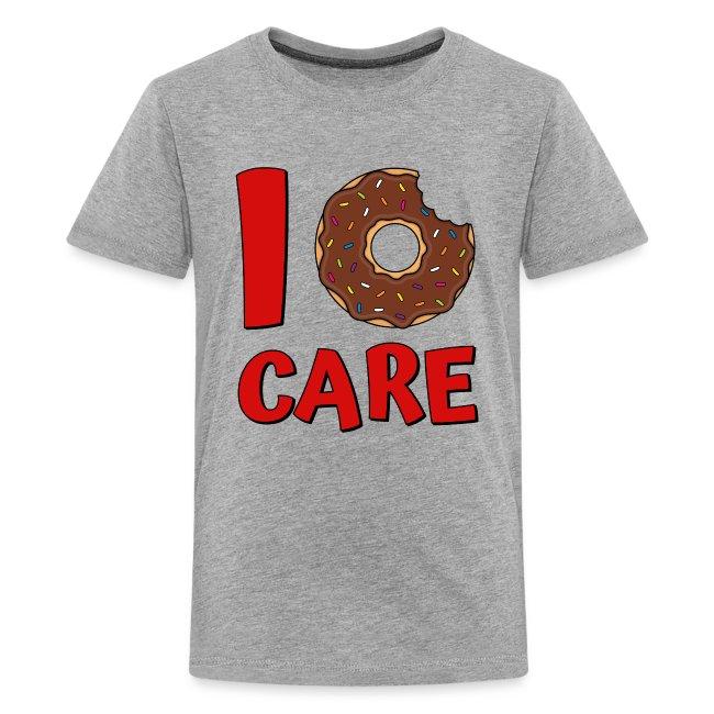 Donut Spruch I Donut Care Donuts Süßigkeiten Rot Teenager Premium T Shirt