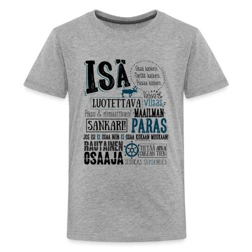 Isän Paita Musta - Teinien premium t-paita