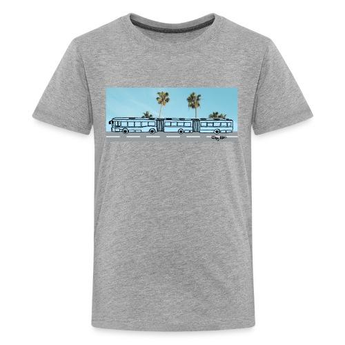 Doppelgelenkbus color palmen - Teenager Premium T-Shirt