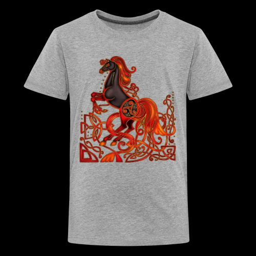 Celtic Horse Night Mare - Teenage Premium T-Shirt