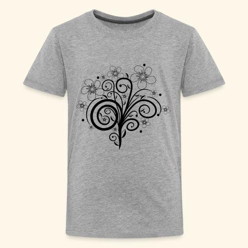 Blumenranke, Blumen, Blüten, floral, Ornamente - Teenager Premium T-Shirt