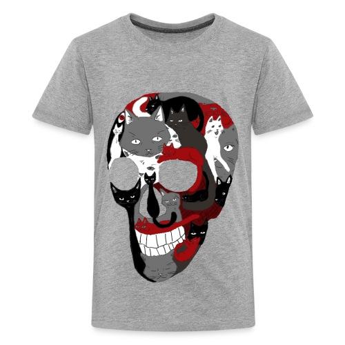 Crâne of the cat - T-shirt Premium Ado