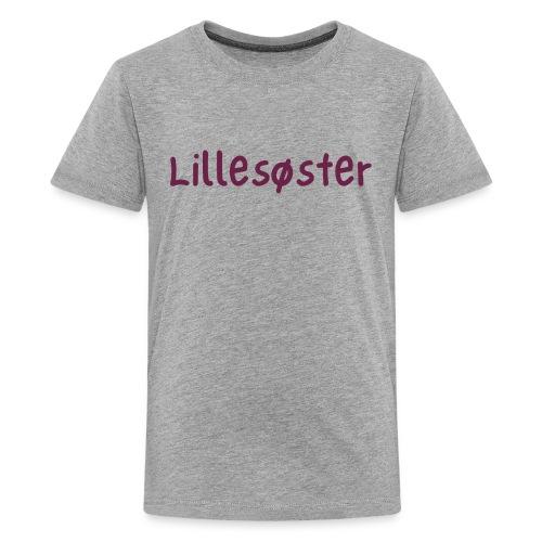 lillesøster - Premium T-skjorte for tenåringer