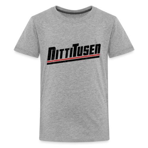 Nittitusen print svart - Premium-T-shirt tonåring