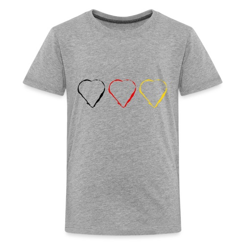 3 Herzen Deutschland #1 - Teenager Premium T-Shirt