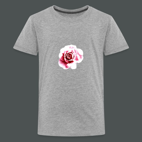 Sketched Rose - Teenage Premium T-Shirt