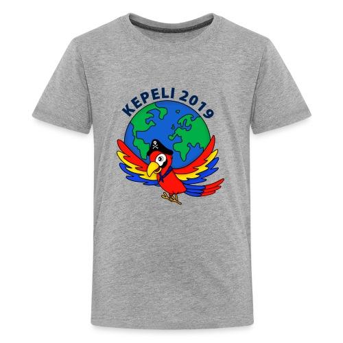 kepeli2019 logo - Teinien premium t-paita