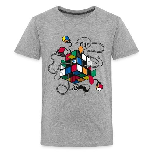 Rubik's Cube Robot Style - Teenage Premium T-Shirt