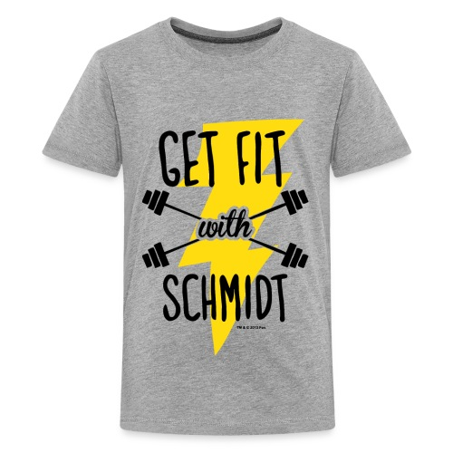 NewGirl Get fit with Schmidt - Teenager Premium T-Shirt