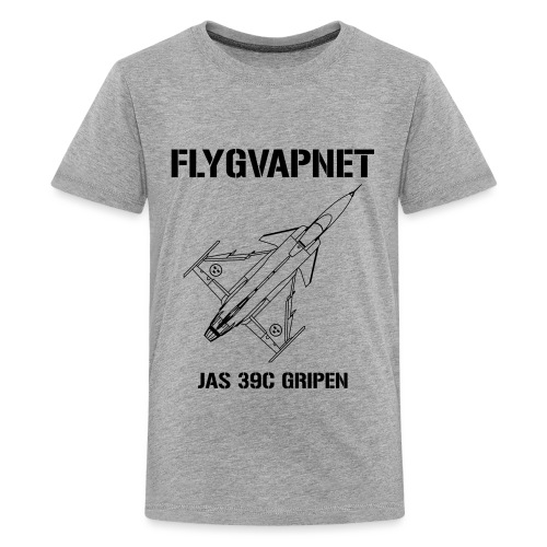 FLYGVAPNET - JAS 39C - Premium-T-shirt tonåring