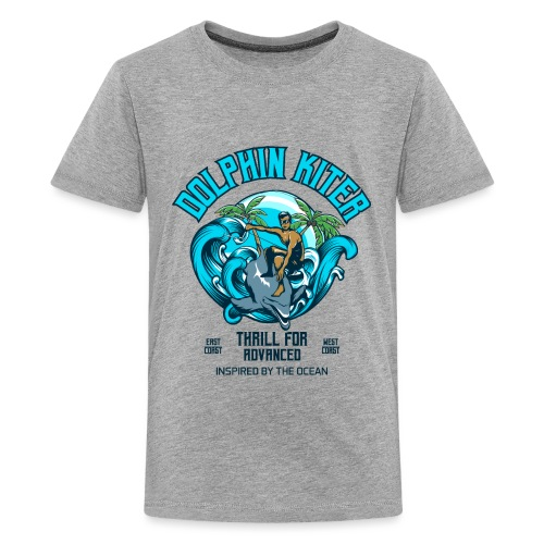 Dolphin Kitesurfer for advanced - Teenager Premium T-Shirt