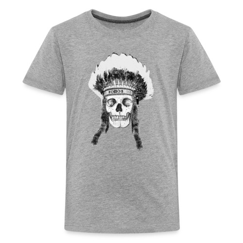 skull indian headdress - Teenager Premium T-shirt