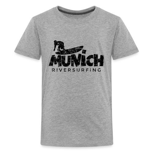 Munich Riversurfing München Surfer Vintage Schwarz - Teenager Premium T-Shirt