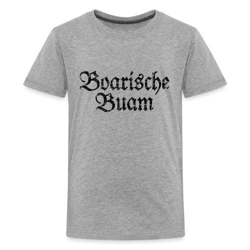 Boarische Buam Männer aus Bayern (Vintage Schwarz) - Teenager Premium T-Shirt