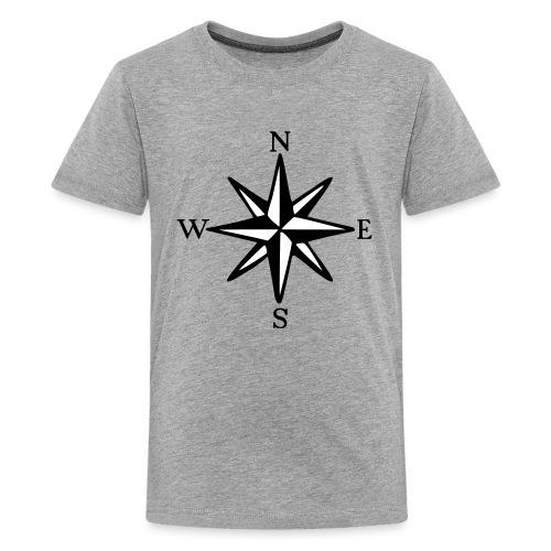 Windrose mit Himmelsrichtungen Segeln Segler - Teenager Premium T-Shirt