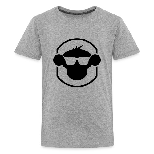 20709 2Clogo and border no text - Teenage Premium T-Shirt