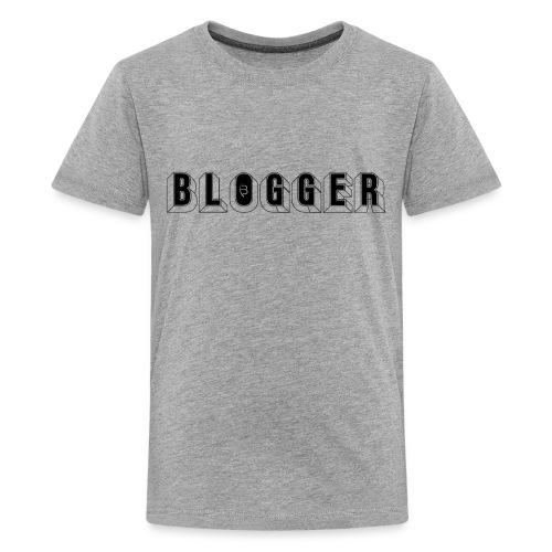 0181 Blogger   Blog   Website   Homepage - Teenage Premium T-Shirt