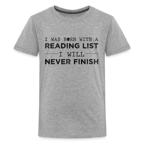 0193 Stapel ungelesener Bücher | Lesen | Leser - Teenage Premium T-Shirt