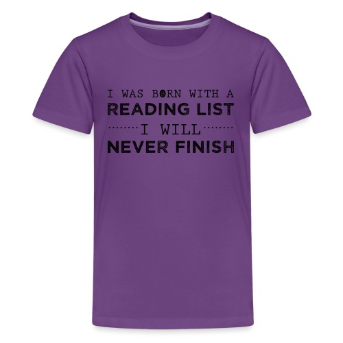 0193 Stapel ungelesener Bücher | Lesen | Leser - Teenage Premium T-Shirt