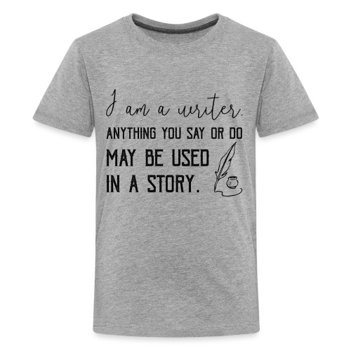 0266 writer | Author | Book | history - Teenage Premium T-Shirt