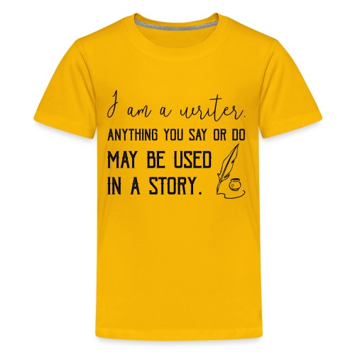 0266 writer | Author | Book | history - Teenage Premium T-Shirt