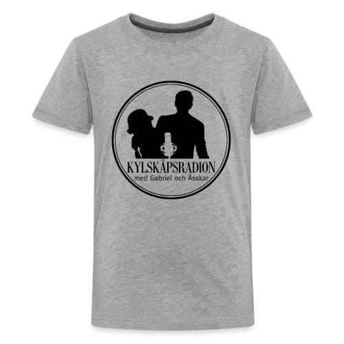 Logga helsvart - Premium-T-shirt tonåring