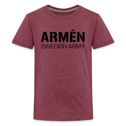 ARMÉN -Swedish Army - Premium-T-shirt tonåring