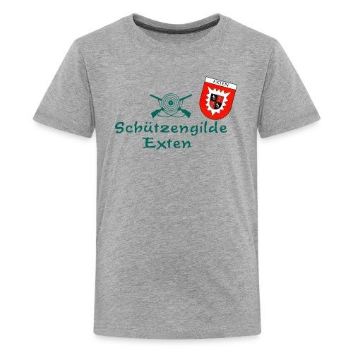 Schützengilde Exten mit Wappen - Teenager Premium T-Shirt