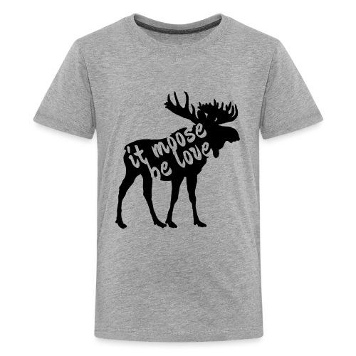 Skandinavien Liebe Elch Geschenk - Teenager Premium T-Shirt