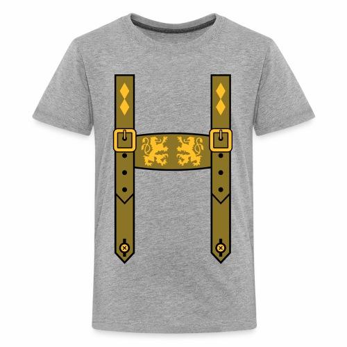 Lederhose Bayern Löwen Wappentiere - Teenager Premium T-Shirt