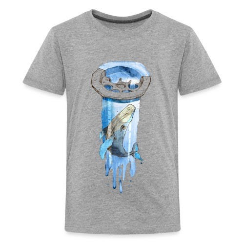 Wal im Abfluss (Whale in the Drain) - Teenager Premium T-Shirt