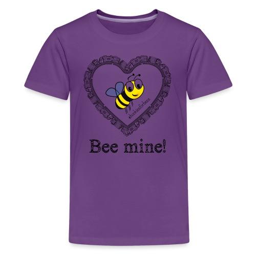 Bees3-1 save the bees   bee mine! - Teenage Premium T-Shirt