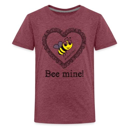 Bees3-1 save the bees | bee mine! - Teenage Premium T-Shirt