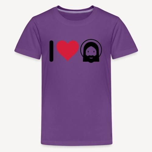 I LOVE JESUS - Teenage Premium T-Shirt