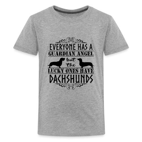 Dachshund WH SH Angels - Teinien premium t-paita