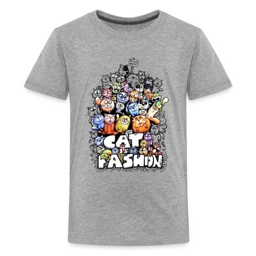 Cat is fashion - Teenager Premium T-Shirt
