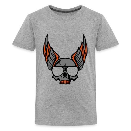 tete mort aile lunette skull aille 1206 - T-shirt Premium Ado